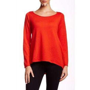 NEW Eileen Fisher Ballet Neck Merino Wool Sweater